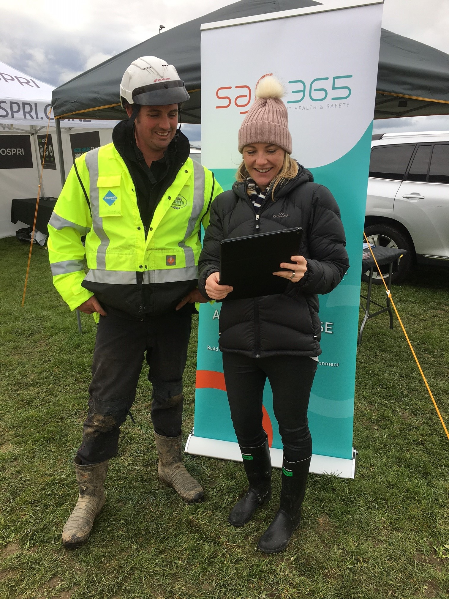 Amanda Barker takes on of NZ's young farmers on a Safe365 tour.
